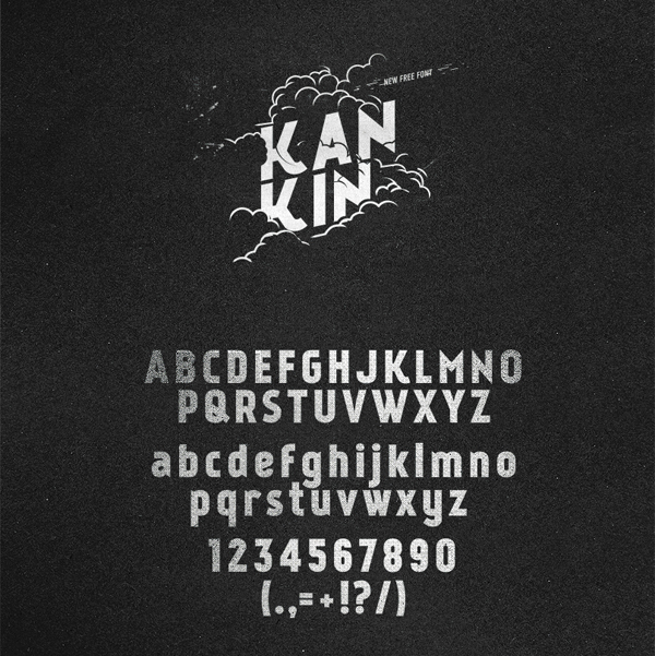 flat-tasarim-ucretsiz-font-kankin-artmanik