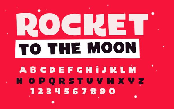 flat-tasarim-ucretsiz-font-rocket-artmanik
