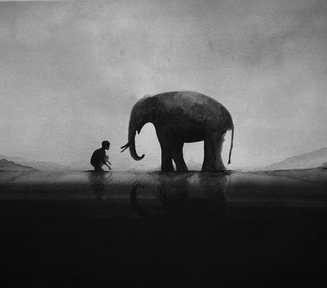 siyah-beyaz-sulu-boya-illustrasyonlari-artmanik-5